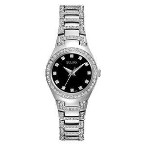 SALE! Bulova Silver Accent Crystal Watch